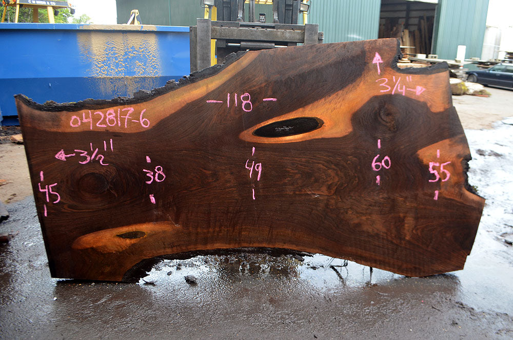 Oregon Black Walnut Slab 042817-06