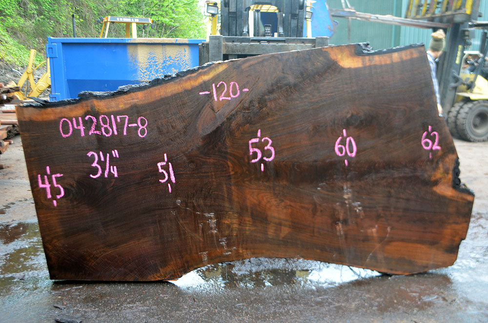 Oregon Black Walnut Slab 042817-08
