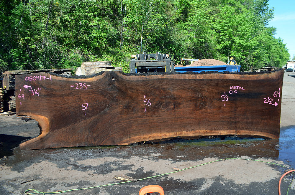 Oregon Black Walnut Slab 050417-01