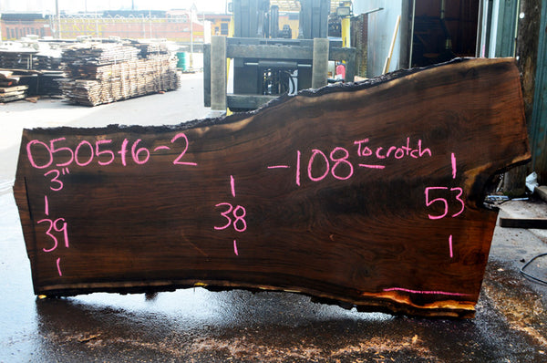 Oregon Black Walnut Slab 050516-02