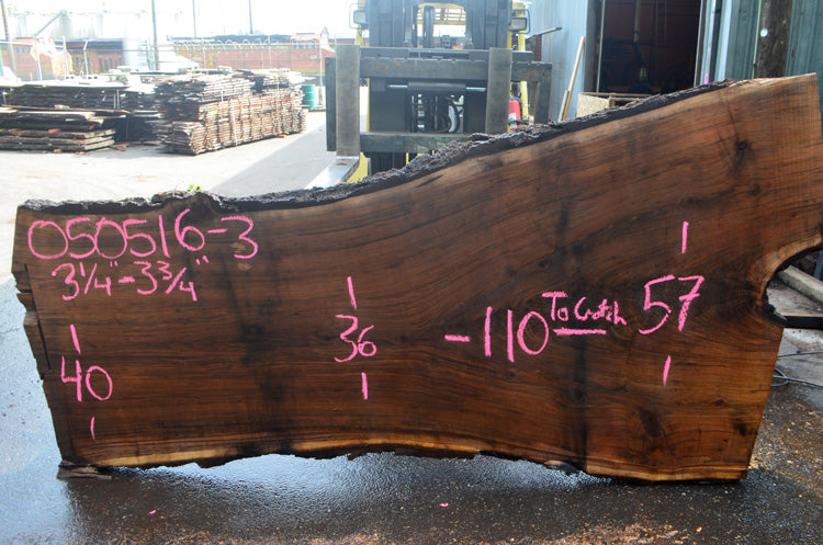 Oregon Black Walnut Slab 050516-03