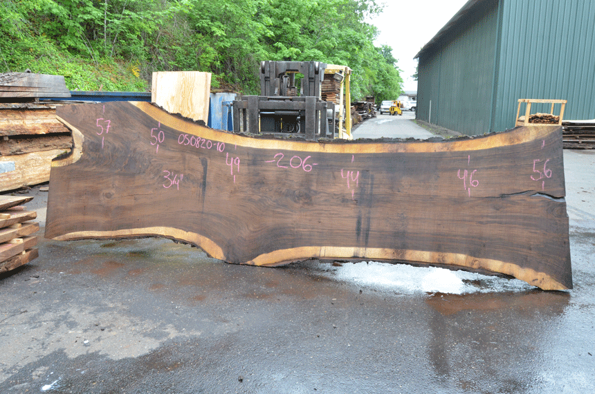 Oregon Black Walnut Slab 050820-10