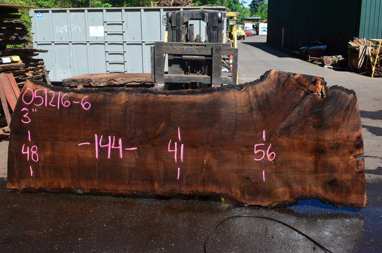 Oregon Black Walnut Slab 051216-06
