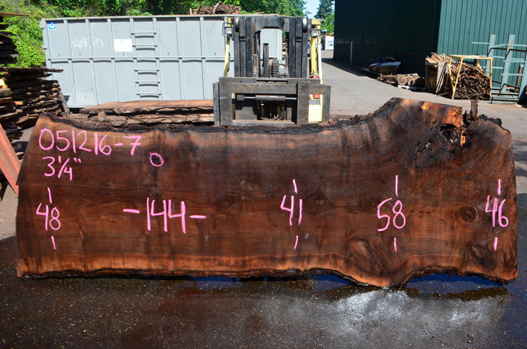 Oregon Black Walnut Slab 051216-07