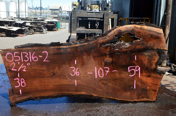 Oregon Black Walnut Slab 051316-02