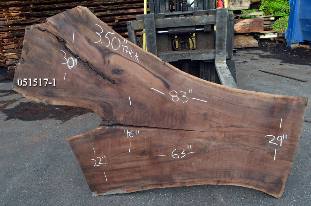 Oregon Black Walnut Slab 051517-1