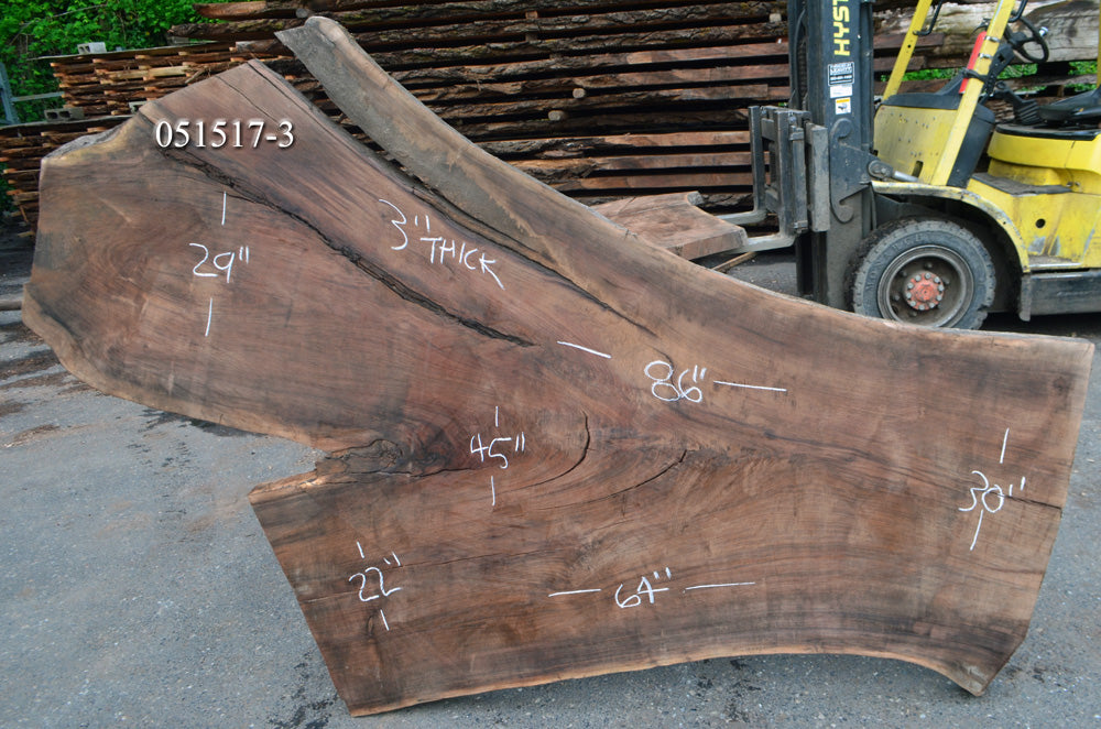 Oregon Black Walnut Slab 051517-3