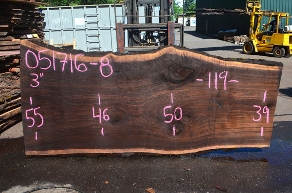 Oregon Black Walnut Slab 051716-08