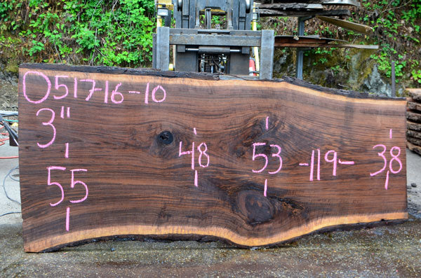Oregon Black Walnut Slab 051716-10