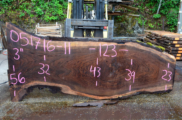 Oregon Black Walnut Slab 051716-11