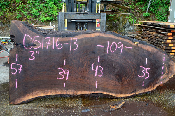 Oregon Black Walnut Slab 051716-13