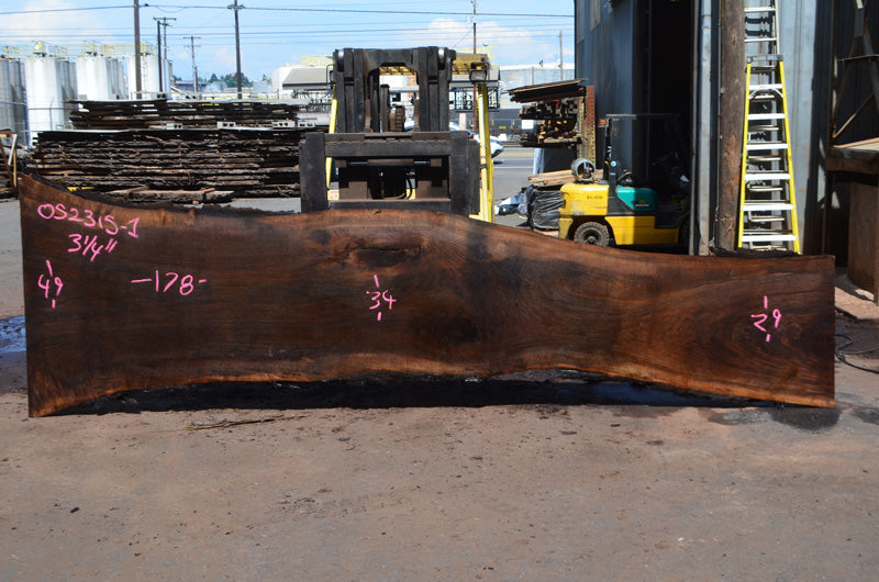 Oregon Black Walnut Slab 052315-01