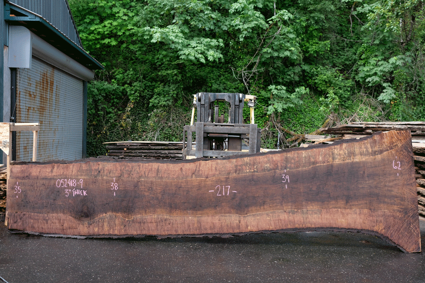 Oregon Black Walnut Slab 052418-09