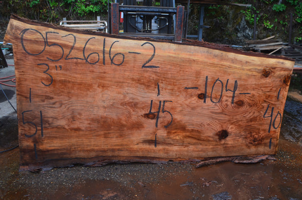 Oregon Redwood Slab 052616-02