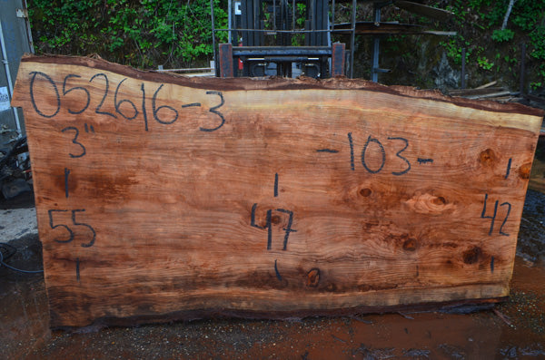 Oregon Redwood Slab 052616-03