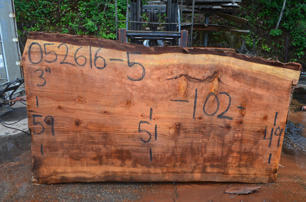 Oregon Redwood Slab 052616-05