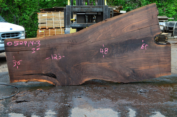 Oregon Black Walnut Slab 052914-03