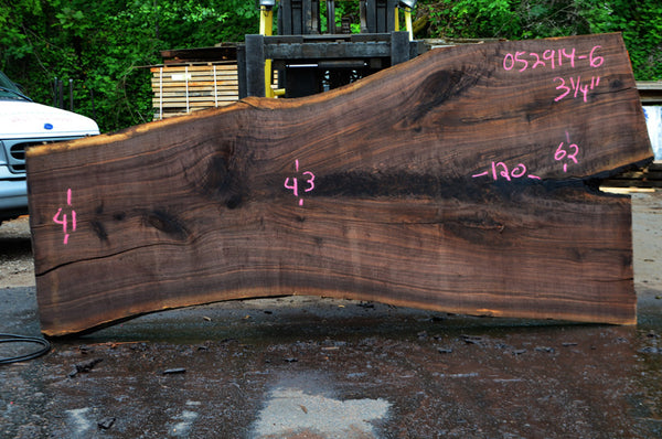 Oregon Black Walnut Slab 052914-06