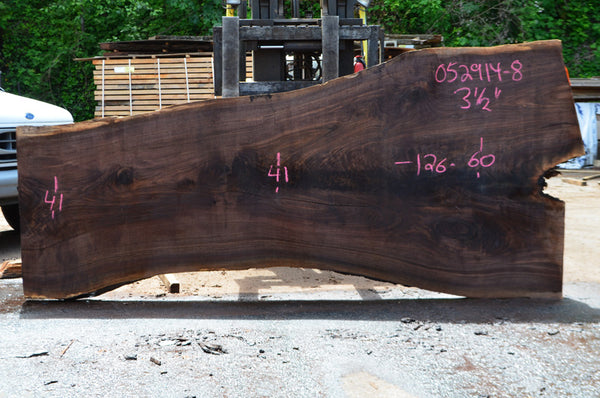 Oregon Black Walnut Slab 052914-08