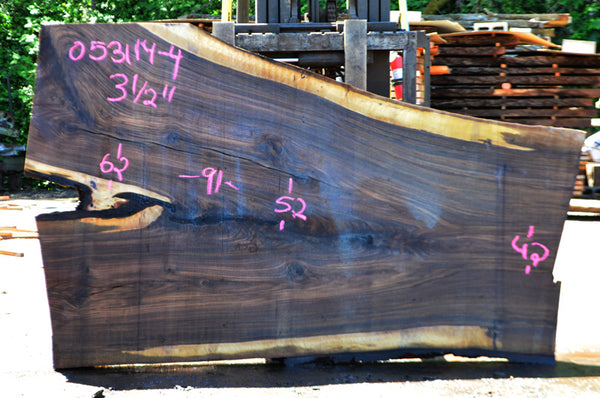 Oregon Black Walnut Slab 053114-04