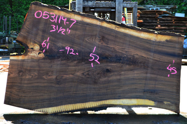 Oregon Black Walnut Slab 053114-07