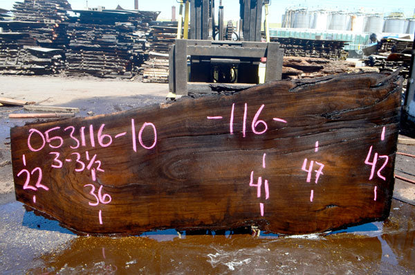 Oregon Black Walnut Slab 053116-10
