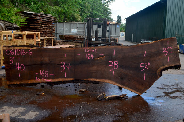 Oregon Black Walnut Slab 061016-06
