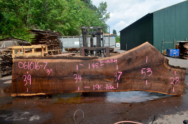 Oregon Black Walnut Slab 061016-07