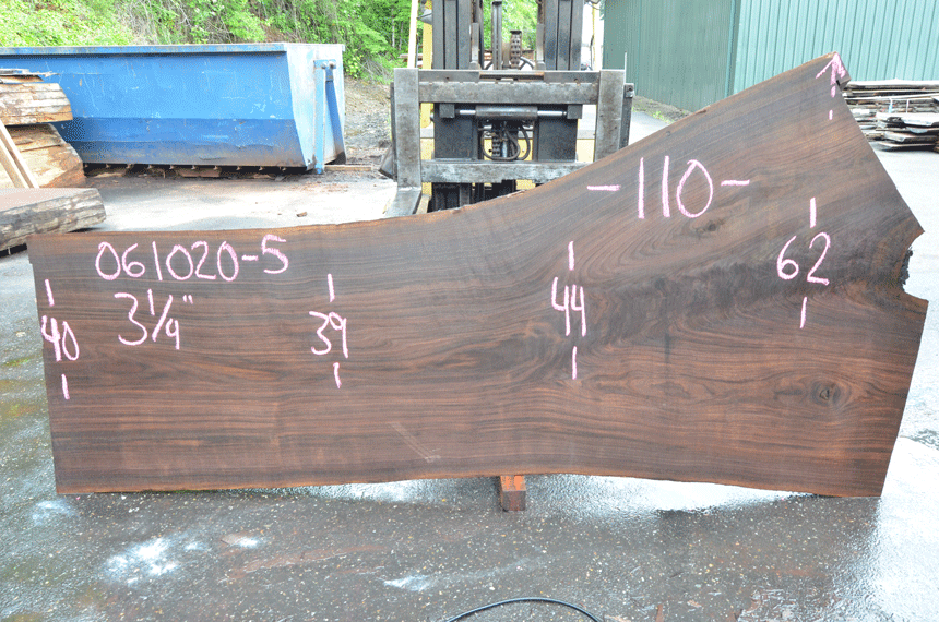 Oregon Black Walnut Slab 061020-05