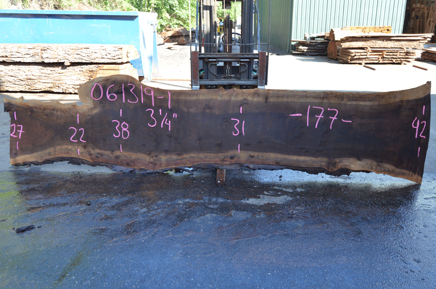 061319-01 Oregon Black Walnut Slab