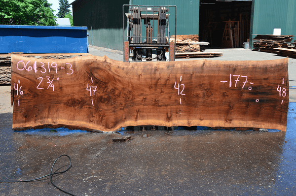 061319-03 Oregon Black Walnut Slab