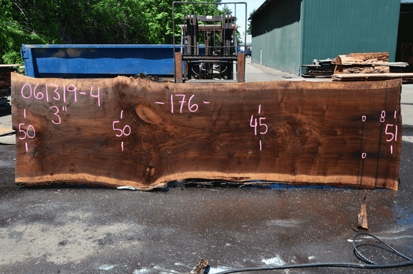 061319-04 Oregon Black Walnut Slab