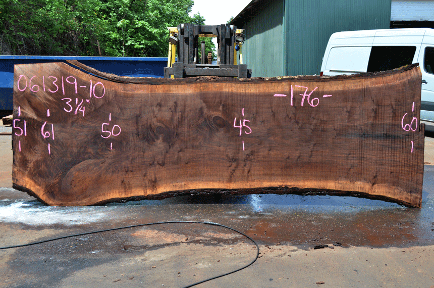 061319-10 Oregon Black Walnut Slab