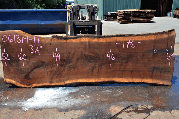 061319-11 Oregon Black Walnut Slab