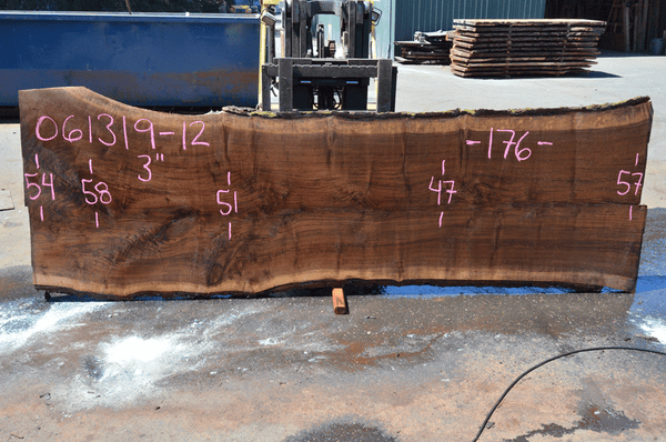 061319-12 Oregon Black Walnut Slab