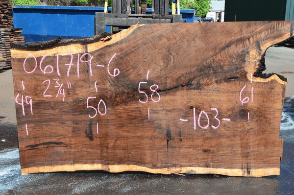 061719-06 Oregon Black Walnut Slab