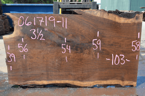061719-11 Oregon Black Walnut Slab
