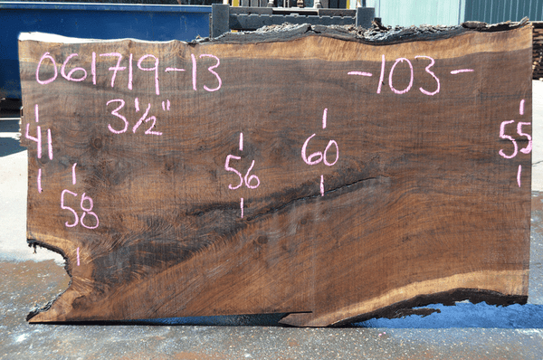061719-13 Oregon Black Walnut Slab