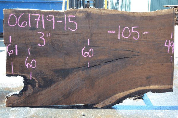 061719-15 Oregon Black Walnut Slab