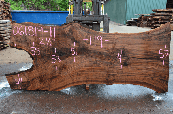 061819-11 Oregon Black Walnut Slab