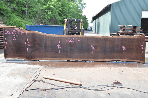 062519-11 Oregon Black Walnut Slab