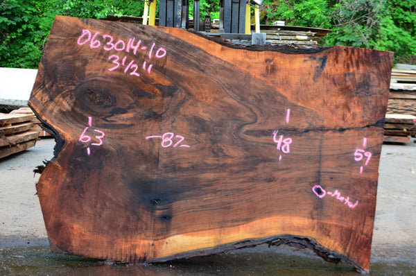 Oregon Black Walnut Slab 063014-10