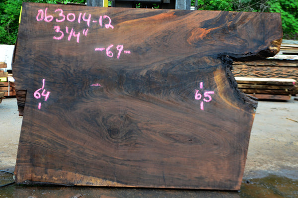 Oregon Black Walnut Slab 063014-12