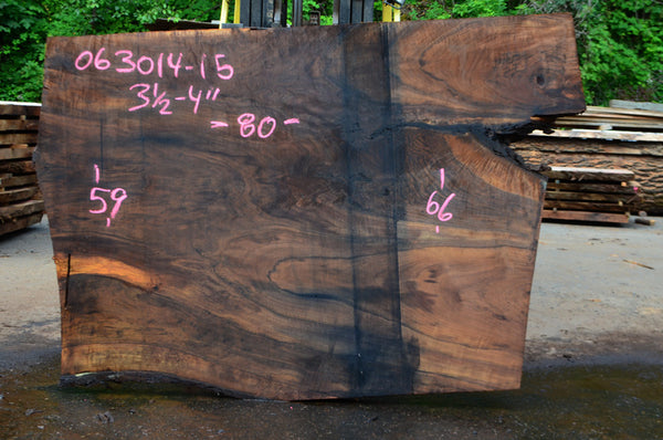 Oregon Black Walnut Slab 063014-15