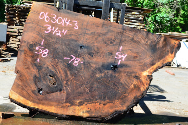Oregon Black Walnut Slab 063014-03