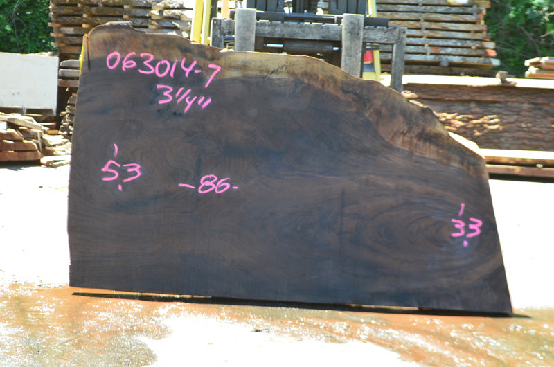 Oregon Black Walnut Slab 063014-07