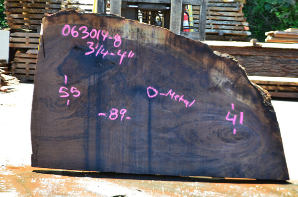 Oregon Black Walnut Slab 063014-08
