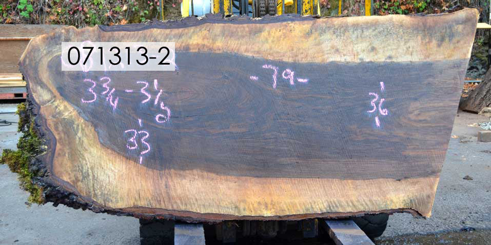 Bastogne Walnut Slab 071313-02