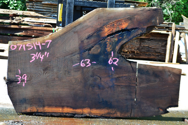 Oregon Black Walnut Slab 071514-07