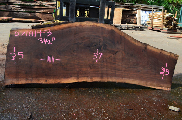 Oregon Black Walnut Slab 071814-03